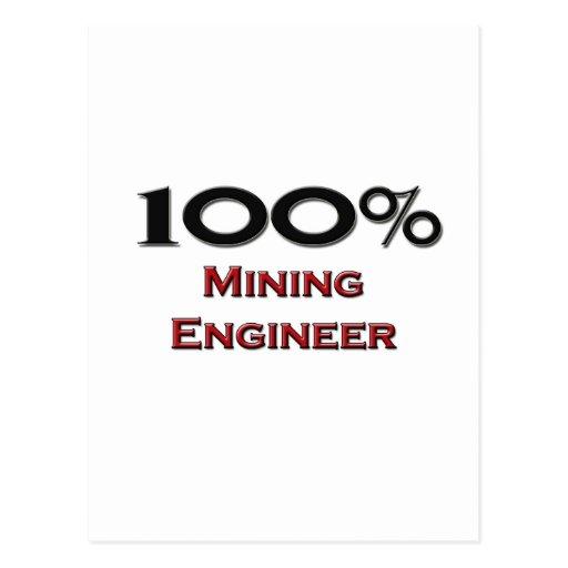 Ingeniero de minas del 100 por ciento postal