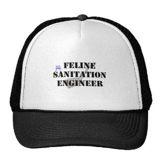 Ingeniero de saneamiento felino gorras