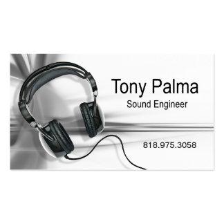 Ingeniero de sonido liso - tarjeta de la industria plantilla de tarjeta personal