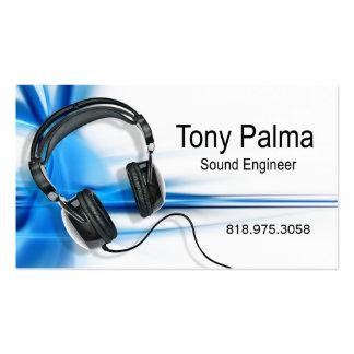 Ingeniero de sonido liso - tarjeta de la industria tarjetas de visita