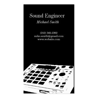Ingeniero de sonido plantilla de tarjeta de negocio