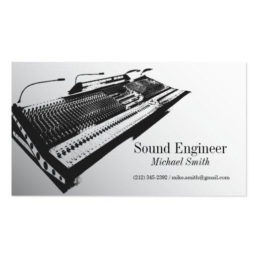 Ingeniero de sonido tarjetas de visita