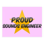 Ingeniero de sonidos orgulloso postal