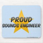 Ingeniero de sonidos orgulloso tapetes de raton