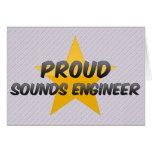 Ingeniero de sonidos orgulloso tarjeton
