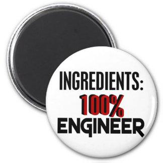 Ingeniero del 100% imán redondo 5 cm