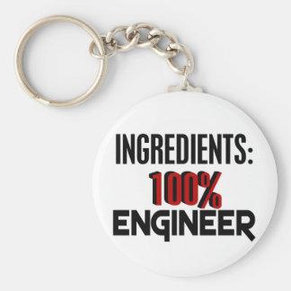 Ingeniero del 100% llavero