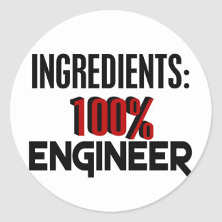 Ingeniero del 100% etiquetas redondas