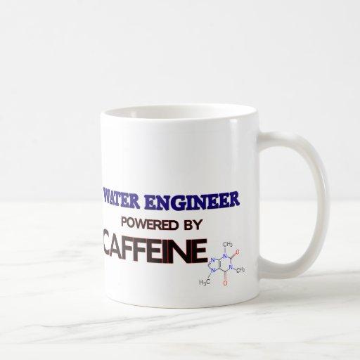 Ingeniero del agua accionado por el cafeína tazas