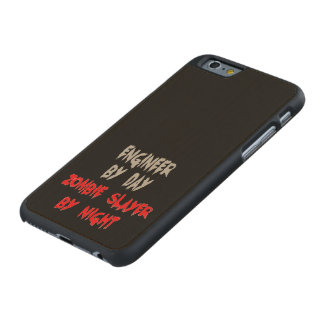 Ingeniero del asesino del zombi funda de iPhone 6 carved® slim de arce