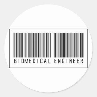 Ingeniero del Biomedical del código de barras Pegatina Redonda