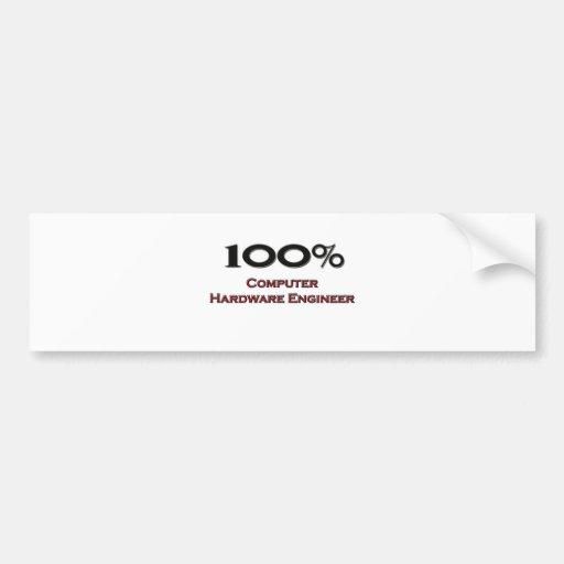 Ingeniero del hardware del 100 por ciento pegatina de parachoque