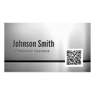 Ingeniero del petróleo - código del acero inoxidab tarjeta de visita