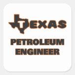 Ingeniero del petróleo de Tejas Pegatina Cuadrada