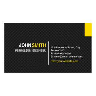 Ingeniero del petróleo - rejilla moderna de la tarjetas de visita