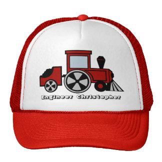 Ingeniero del tren gorros bordados