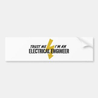 Ingeniero eléctrico pegatina para auto
