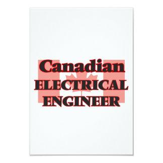 """Ingeniero eléctrico canadiense invitación 3.5"""" x 5"""""""