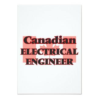 """Ingeniero eléctrico canadiense invitación 5"""" x 7"""""""