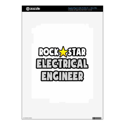 Ingeniero eléctrico de la estrella del rock pegatinas skins para iPad 3