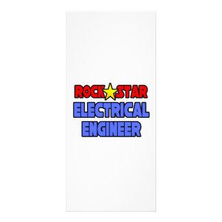Ingeniero eléctrico de la estrella del rock tarjetas publicitarias
