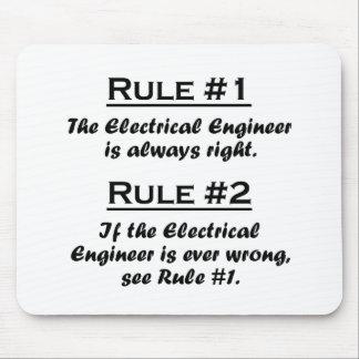 Ingeniero eléctrico de la regla tapetes de raton