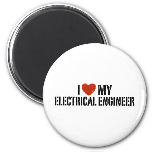 Ingeniero eléctrico imán redondo 5 cm