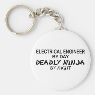 Ingeniero eléctrico Ninja mortal Llavero Redondo Tipo Pin