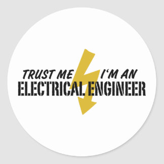 Ingeniero eléctrico pegatina redonda