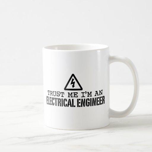Ingeniero eléctrico taza básica blanca
