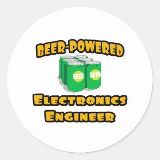 Ingeniero electrónico Cerveza-Accionado Pegatinas