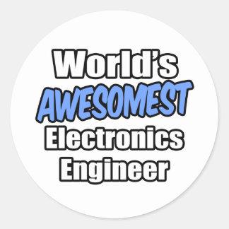 Ingeniero electrónico de Awesomest del mundo Etiqueta