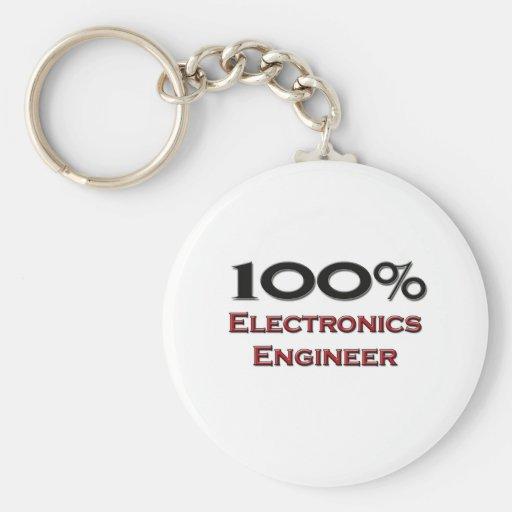 Ingeniero electrónico del 100 por ciento llavero