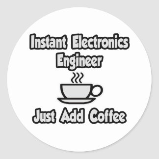 Ingeniero electrónico inmediato Apenas añada el c Etiqueta Redonda