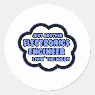 Ingeniero electrónico Livin el sueño Etiquetas Redondas