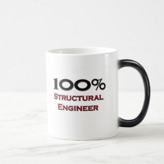 Ingeniero estructural del 100 por ciento taza mágica