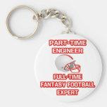 Ingeniero. Experto del fútbol de la fantasía Llaveros Personalizados