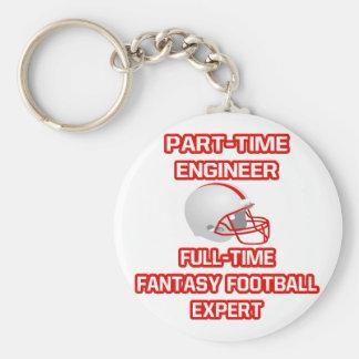 Ingeniero. Experto del fútbol de la fantasía Llavero Redondo Tipo Pin
