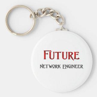 Ingeniero futuro de la red llavero redondo tipo pin