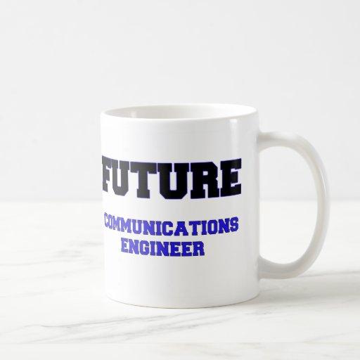 Ingeniero futuro de las comunicaciones taza básica blanca