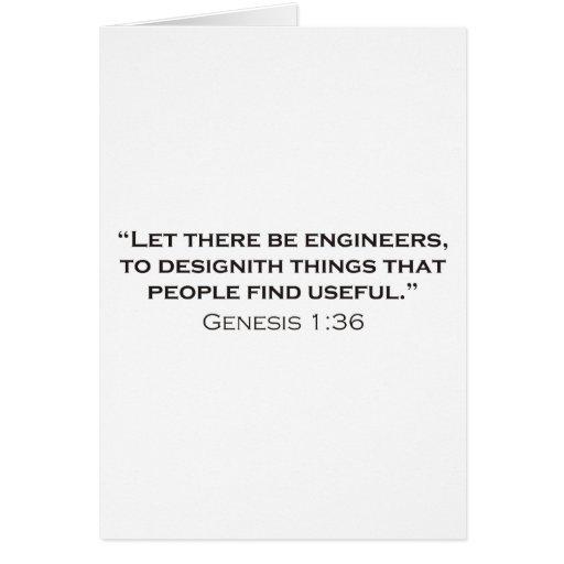 Ingeniero/génesis Tarjetas