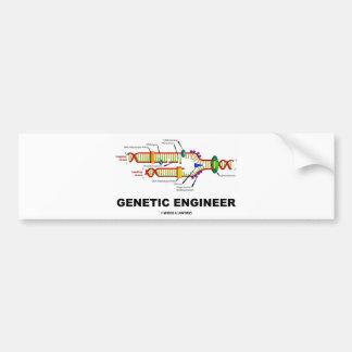 Ingeniero genético (réplica de la DNA) Pegatina Para Auto
