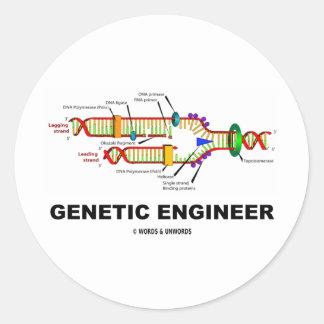 Ingeniero genético (réplica de la DNA) Pegatina Redonda