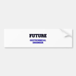 Ingeniero geotécnico futuro etiqueta de parachoque