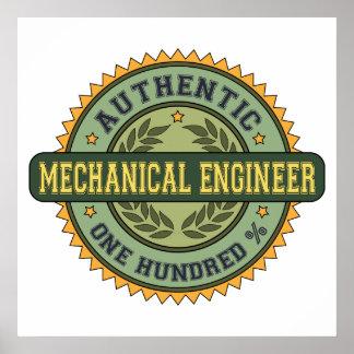 Ingeniero industrial auténtico póster