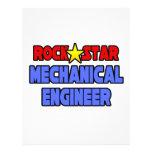 Ingeniero industrial de la estrella del rock tarjetón