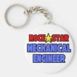 Ingeniero industrial de la estrella del rock llaveros personalizados