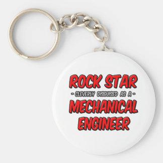 Ingeniero industrial de la estrella del rock… llavero redondo tipo pin