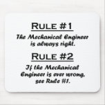 Ingeniero industrial de la regla tapetes de raton