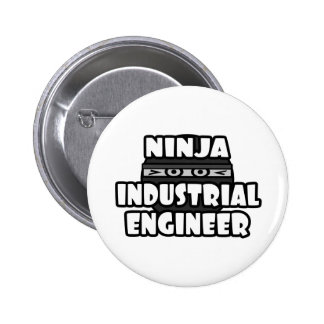 Ingeniero industrial de Ninja Pin Redondo De 2 Pulgadas